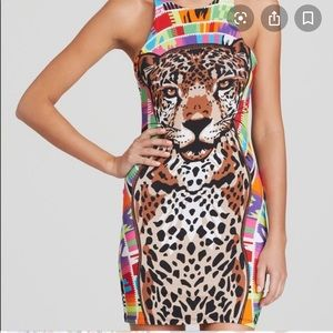 Mara Hoffman tiger swimsuit cover up